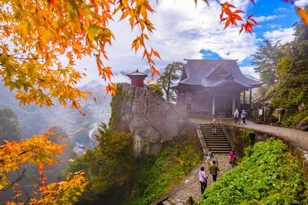 야마가타, 일본에서 야마데라 산 성전입니다. 스톡 콘텐츠