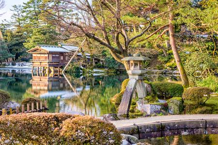 Kanazawa, Ishikawa, Japan garden landscape.