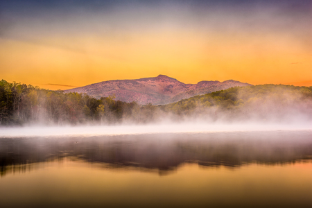 Grandfather Mountain, North Carolina, USA on Price Lake at dawn.