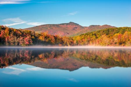 Grandfather Mountain, North Carolina, USA on Price Lake in autumn.