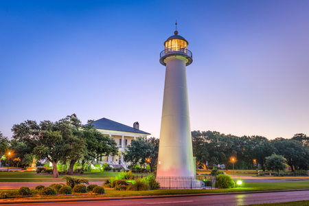 Biloxi, Mississippi, USA Light House. Banco de Imagens