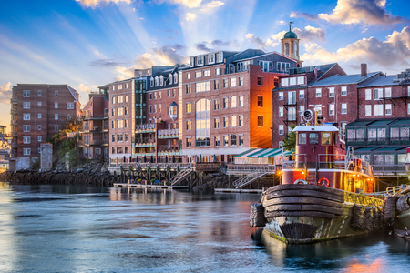 Portsmouth, New Hampshire, USA town cityscape. Stock Photo