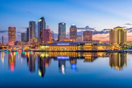 Tampa, Florida, USA downtown skyline on the bay.
