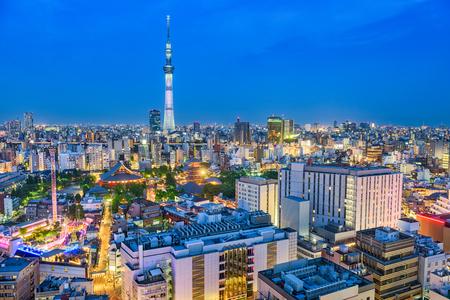 Tokyo, Japan skyline over Asakusa.