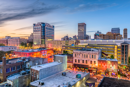 Memphis, Tennessee, USA downtown skyline. Stockfoto