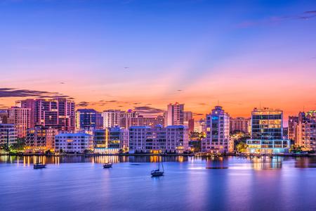 Sarasota, Florida, USA skyline on the bay. Stock Photo