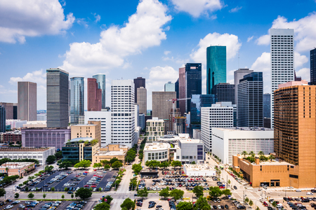 Houston, Texas, USA downtown skyline.