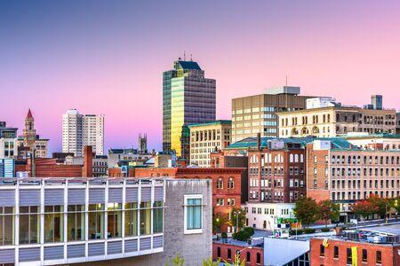 Worcester, Massachusetts, USA downtown city skyline. Banco de Imagens