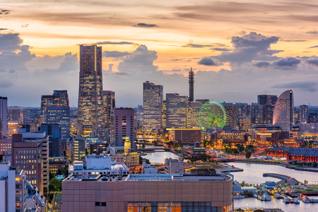 Yokohama, Kanagawa, Japan cityscape of Minato Mirai District.