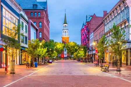 Burlington, Vermont, USA at Church Street Marketplace. Archivio Fotografico