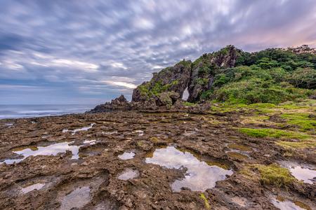 Kumejima Island, Okinawa, Japan at Mifuga Rock. Stock Photo