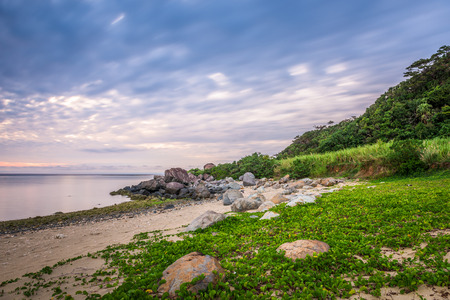 Kumejima, Okinawa, japan on Ara Beach. Stock Photo