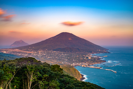 Hachijojima, Tokyo, Japan island landscape. Stock Photo