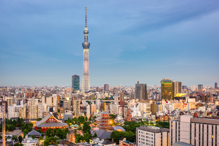 Tokyo, Japan Skyline at dusk.