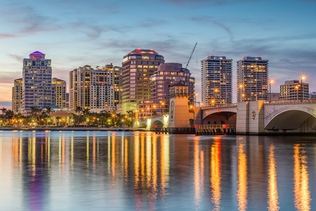 West Palm Beach, Florida, USA downtown skyline.