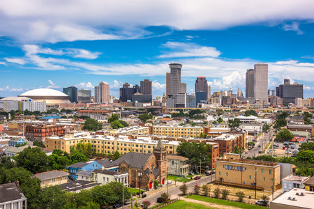 New Orleans, Louisiana, USA downtown city skyline.