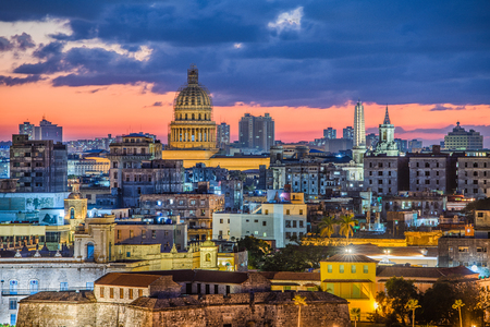 Havana, Cuba old town skyline. Stock Photo