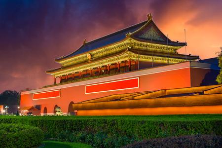 天安門広場の天安門で中国の北京。 写真素材