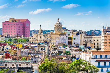 ハバナ、キューバのダウンタウンのスカイライン。