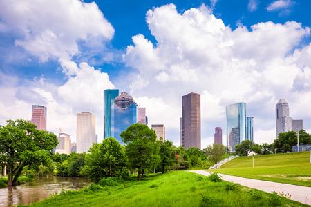 Toits de la ville du centre-ville de Houston, Texas, États-Unis. Banque d'images