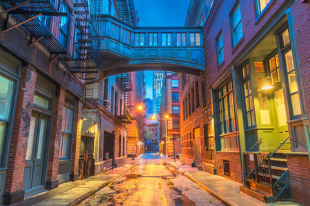 Alley in the Tribeca neighborhood in New York City.