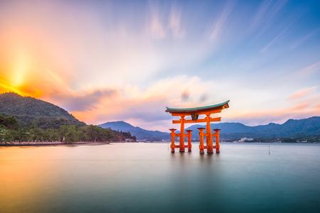 Miyajima, Hiroshima, Japan at Itsukushima Shrine. Editorial