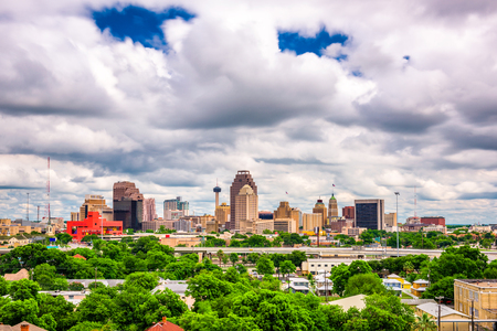 San Antonio, Texas, USA downtown skyline. Standard-Bild