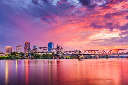 Little Rock, Arkansas, USA downtown skyline on the Arkansas River.