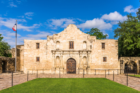 The Alamo in San Antonio, Texas, USA. 스톡 콘텐츠