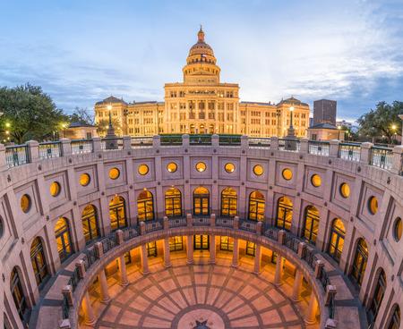 Austin, Texas, USA at the Texas State Capitol. Archivio Fotografico