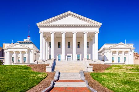 Virginia State Capitol building in Richmond, Vriginia, USA. Editorial