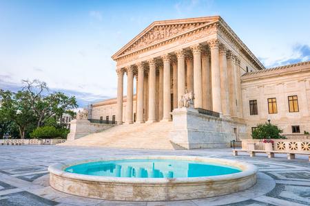 Gebäude des Obersten Gerichtshofs der Vereinigten Staaten im Washington DC, USA. Standard-Bild