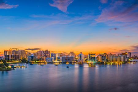 Sarasota, Florida, USA downtown skyline on the bay. Stock Photo