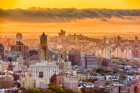 Brooklyn, New York, USA cityscape over downtown in the late afternoon.