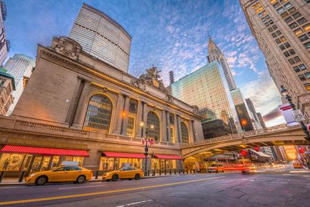 New York, New York, USA au Grand Central Terminal à Midtown Manhattan le matin.