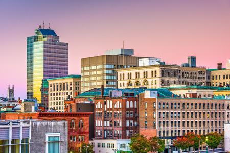 Worcester, Massachusetts, USA downtown city skyline.