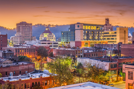 Asheville, North Caroilna, USA downtown skyline at dawn. 写真素材
