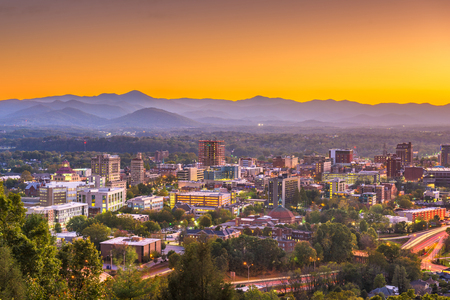 Asheville, North Caroilna, USA downtown skyline at dawn. Reklamní fotografie
