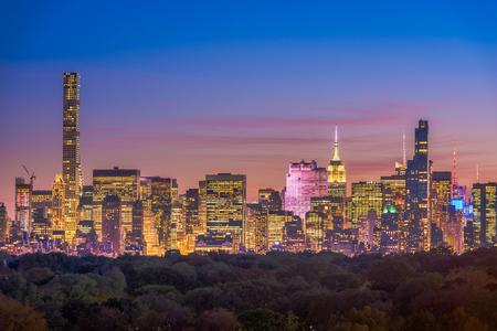 New York, New York, USA Midtown Skyline