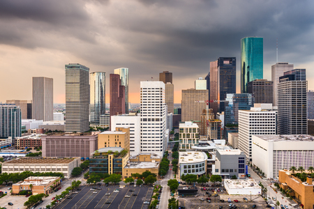 Houston, Texas, USA downtown city skyline. 免版税图像
