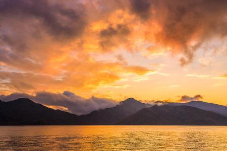 Lake Chuzenji in Nikko, Tochigi Prefecture, Japan. Standard-Bild