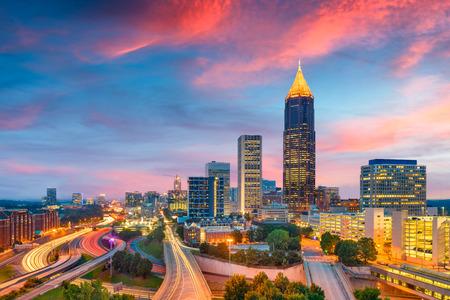 Atlanta, Georgia, USA downtown and midtown skyline at dusk. Zdjęcie Seryjne