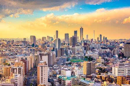 Tokyo, Japan cityscape over Bunkyo Ward towards Shibuya Ward. Фото со стока