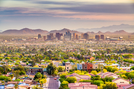 Phoenix, Arizona, USA downtown cityscape at dusk. Standard-Bild