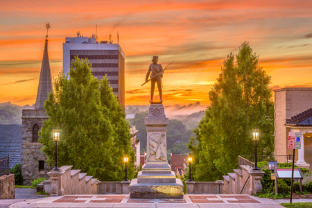 Lynchburg, Virginia, USA monuments and cityscape. Stock Photo