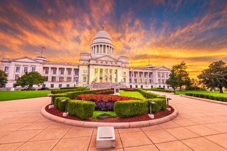 Little Rock, Arkansas, EE.UU. en el capitolio del estado.