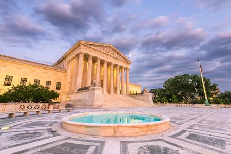 Gebäude des Obersten Gerichtshofs der Vereinigten Staaten in Washington, DC, USA. Standard-Bild