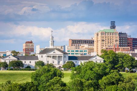 Richmond, Virginia, USA downtown cityscape and historic architecture.