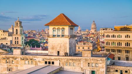 Havana, Cuba downtown skyline from the port.