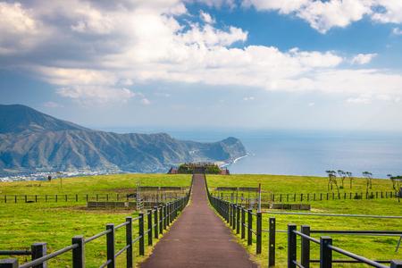 Hachijojima, Tokyo, Japan island landscape. 版權商用圖片